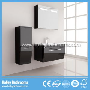 Hot LED Light Touch Switch High-Gloss Paint Bathroom Cabinet (B917P) pictures & photos