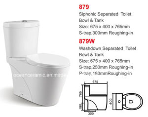 879 / 879W Water Closet, Ceramic Two-Piece Toilet, Siphonic Toilet, Washdown Toilet pictures & photos