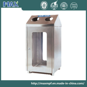 Stainless Steel Garbage Bin with Acrylic Panels for Public Environment pictures & photos