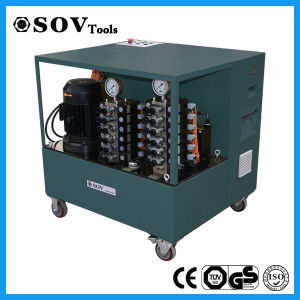 CE Proved PLC Synchronous Lifting Hydraulic Jack System pictures & photos