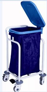 Coated Steel Medical Trolley for Waste Collecting pictures & photos
