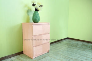 Modern Wooden Birch Veneered Chest of 3 Drawers (N1015-3A)