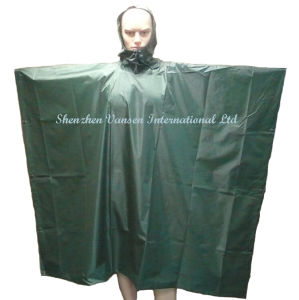 Waterproof Navy Green PVC Poncho/ Rainwear pictures & photos