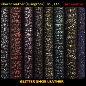 Popular Glitter Synthetic Leather for Shoes Upper Material (AD12)