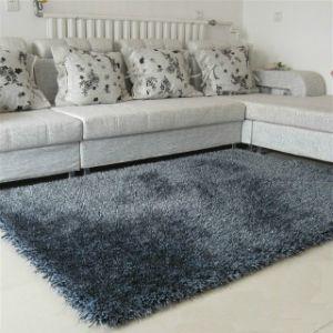 Modern House Design PVC Floor Shaggy Silk Polyester Carpet pictures & photos
