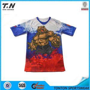 Custom Men′s Full Printing Dry Fit T Shirt pictures & photos