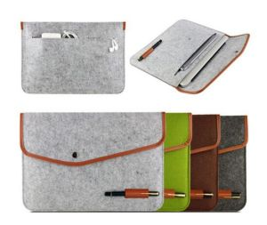 Portable Dark Grey Felt Laptop Carrying Case Sh-16042635 pictures & photos