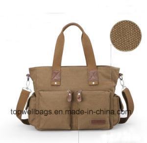 Designer Fashion Stitching Washed Canvas Leisure Shoulder Bag