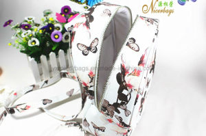 Fashion Butterfly Printing PU Leather Backpack 2016 pictures & photos