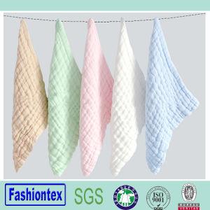Wholesales Baby Cotton Organic Towel Muslin Towel 100% Cotton Handkerchiefs pictures & photos