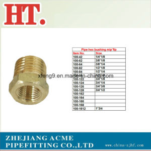 Hex Brass Machined Reducing Pipe Bushing Fitting pictures & photos