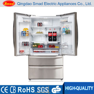 French Door Silver Auto Defrost Refrigerator Freezer pictures & photos