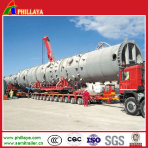 Construction Machinery Heavy Wheeled Transport Semi Trailer pictures & photos