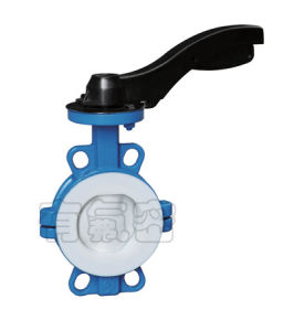 PTFE Lined Wafer Butterfly Valve ANSI pictures & photos
