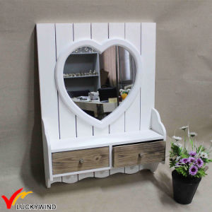 Small White Framed Decorating Wall Mirrors with Drawer pictures & photos