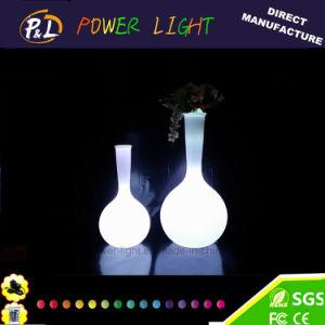 Garden Furniture Plastic Illuminated LED Flower Vase pictures & photos