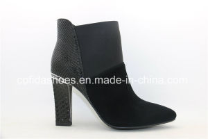 High Quality Sexy Square Heel Leather Ladies Boots pictures & photos