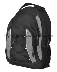 Black 600d Polyester Fashion Backpack Sports Bag pictures & photos