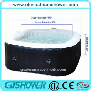 Portable Inflatable Bubble Massage Bath Tub (pH050013) pictures & photos