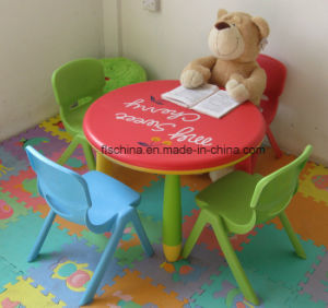 Plastic Kids/Children Round Table Easy to Carry pictures & photos