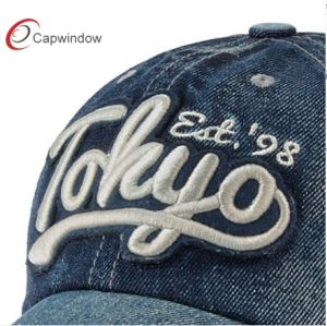 6 Panel Jeans Baseball OEM Cap pictures & photos