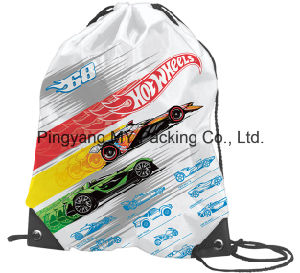 Professional Manufacturer of 210d Polyester Drawstring Backpack Bag pictures & photos