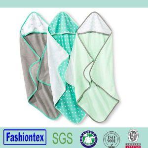 Manufacture Wholesale Babies Age Group Plain Hooded Towel Cotton Poncho Bath Towel pictures & photos