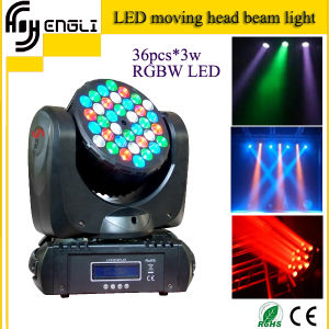 Mini Professional 36*3 Watt RGBW LED Moving Head Lights pictures & photos