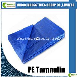 PE Tarpaulin Blue HDPE Woven Fabrics Both Side LDPE Laminated 100% New Material PE Tarpaulin pictures & photos