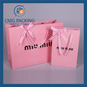 Paper Shopping Bag with Handle (CMG-PGBB-009) pictures & photos