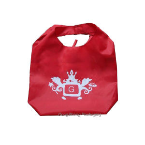 Newest Design Green T-Shirt Nylon/Polyester Foldable Shopping Bag pictures & photos