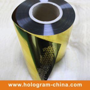 Gold Tamper Evident Aluminum Embossing Void Foil pictures & photos