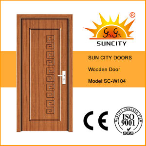 Safety New Style MDF Composite Teak Veneered Wood Door (SC-W104) pictures & photos
