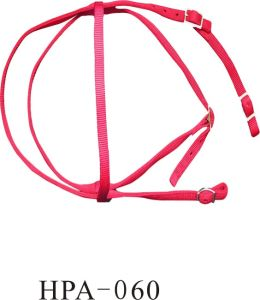 Horse Exercise Nylon Webbing Red Halter with Hardware pictures & photos
