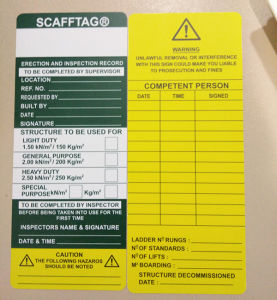 ABS / PP / PVC Plastic Scafftag Scaffolding Tag Holder pictures & photos