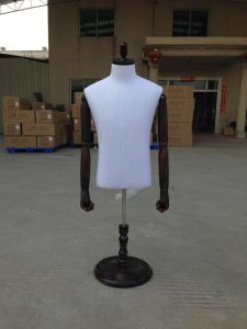 2018 Leather Wrapped Male Cloth Half Body Mannequin with Hands pictures & photos