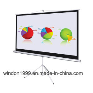 Tripod Projector Scren Pull up Projection Screen Factory Coustomized pictures & photos