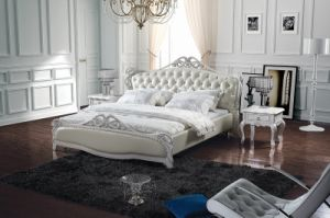 Classical Style Genuine Leather Bed (SBT-5870) pictures & photos