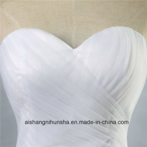 A-Line Neckline Sexy Backless Wedding Dress Lace Wedding Gown pictures & photos