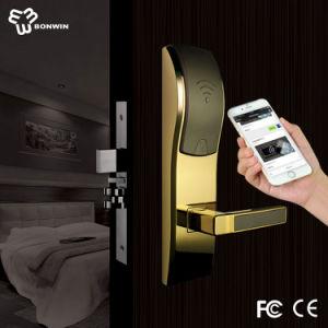 Zinc Alloy Electronic Wireless Hotel Door Handle Lock pictures & photos