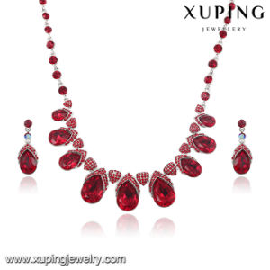 63908 Newest Fashion Luxury CZ Diamond Rhodium Jewelry Set for Wedding or Party pictures & photos
