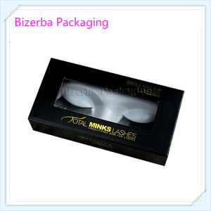 Black Color Cardboard Paper Eyelash Packaging Box