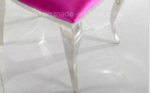 Modern Design Fabric Stainless Steel Dining Chair for Home Furniture (B8051) pictures & photos