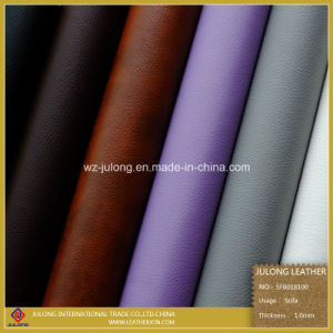 High Quality Lychee Design Semi-PU Leather & Artificial Leather (SFB018) pictures & photos