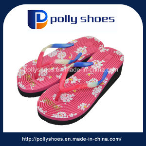 Newest Fancy Design Girls High Heel Beach Slippers pictures & photos