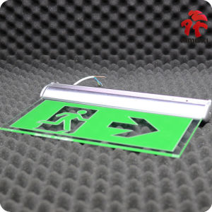 Green Rechargeable Battery Backup Exit Light pictures & photos