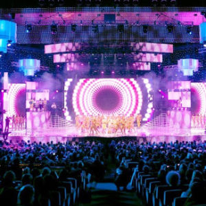 Outdoor Indoor HD Waterproof LED Video Curtain for Stage Background (P8.9, P10.4 display) pictures & photos