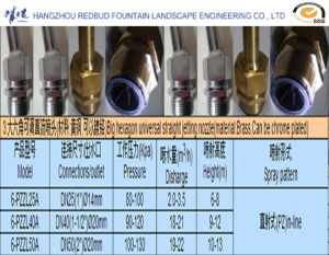 Big Hexagon Universal Straight Jetting Nozzle in Brass (can be chrome plated) pictures & photos