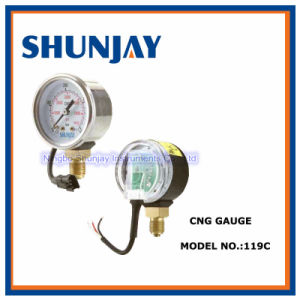 High Quality CNG Pressure Gauge with Bottom Connection