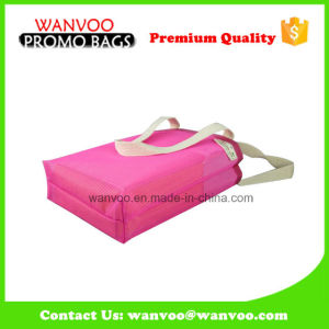 Fashionable Polyester Pink Mesh Travel Beach Tote Bags with Handle pictures & photos